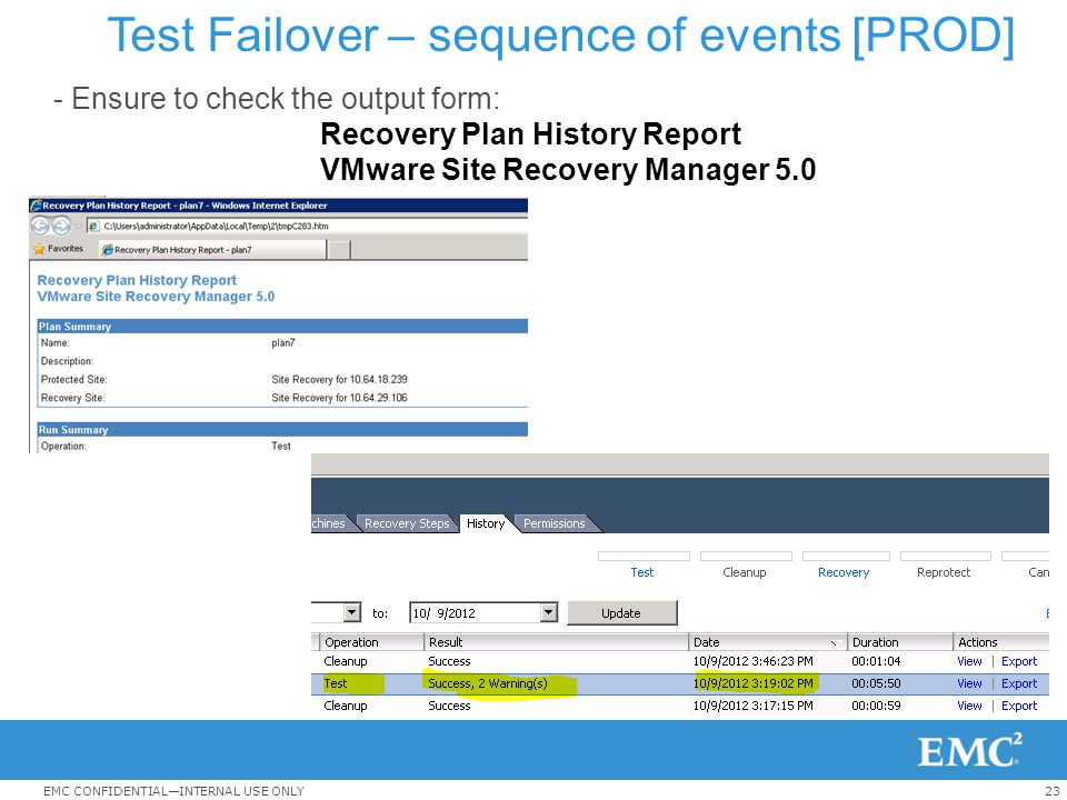 Test Failover – sequence of events [PROD]